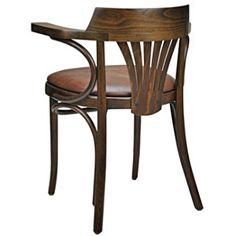 Upholstered New York Cafe Bentwood Armchair Rear View Bentwood Chairs, Work Desk, Rear View, Armchair, Stool, Arms, Art Deco, New York, Table