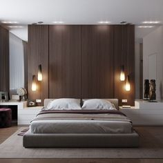 Modern Style Bedroom Design Ideas and Pictures. Is the perfect modern bedroom at the top of your wish list? Our modern bedroom design ideas and inspiration has been carefully compiled to ensure that you. Modern Master Bedroom, Modern Bedroom Decor, Stylish Bedroom, Contemporary Bedroom, Minimalist Bedroom, Home Bedroom, Bedroom Wall, Bedroom Ideas, Modern Contemporary