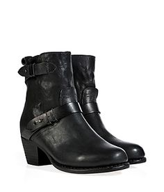 "Finish your look with a kick of cool in Rag & Bone's buckled ""Harper"" boots #Stylebop"