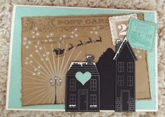 Stampin' Up!'s Holiday Home stamp set & Homemade Holiday Framelits Dies #holidayhome #2014holidaycatalog