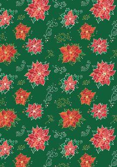 Christmas scrapbook paper - poinsettias