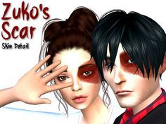 I always wanted to have Zuko's scar from Avatar: The Last Airbender in the Sims…