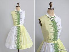 Vintage Dress Mad Men Sundress by RaleighVintage Vintage Dresses 1960s, Vintage Ladies, Vintage Outfits, Retro Fashion, Vintage Fashion, Vintage Style, Tea Party Outfits, Mad Men, Fashion Pants