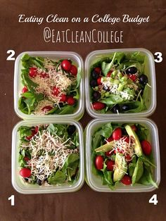 Eating Clean on a College Budget: 4 Ingredient Salad