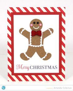Gingerbread Man Card by Amanda Coleman