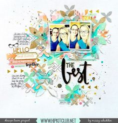 Check out this awesome LO created by DT member @missywhidden  She used our #october2015 kits featuring @primamarketinginc watercolor pencils @pebblesinc Jen Hadfield DIY home collection @pinkpaislee Cedar Lane @shop.evalicious #mixedmedia #hipkits #hipkitclub