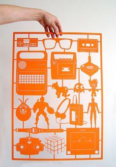 Retro Laser Cut paper