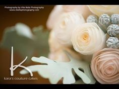 "▶ Kara's Couture Cakes - Wafer ""Bouquet"" Rose Tutorial - YouTube"
