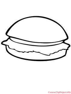dibujo colorear hamburguesa  Dibujos de alimentos para colorear
