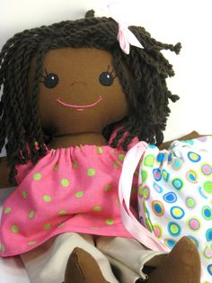 Handmade Rag Doll.  GRS says:  She is lovely and so well-made.  Thank you for sharing