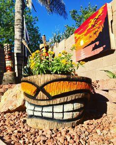 Tiki Decor, Outdoor Decor, Tiki Art, Tiki Tiki, Tiki Faces, Tiki Head, Tiki Totem, Island Theme, Backyard House