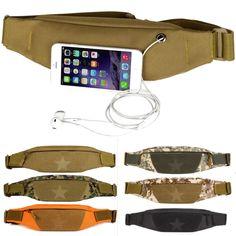 Unisex cintura deporte antirrobo aire libre del bolso wasit nylon del bolso del teléfono de la cintura en ejecución