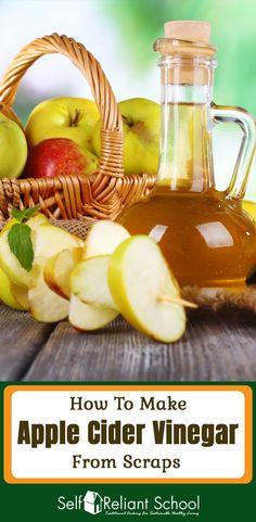 apple cider vinegar benefits How to make homemade raw apple cider vinegar from apple scraps. Apple Cider Vinegar Facial, Apple Cider Vinegar Remedies, Apple Cider Vinegar Benefits, Apple Vinegar, Cider Vinegar Weightloss, Coconut Oil Weight Loss, Homemade Pickles, Homemade Cider, How To Eat Less
