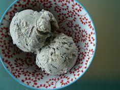 black sesame seed ice cream (goma ice cream) by joanie