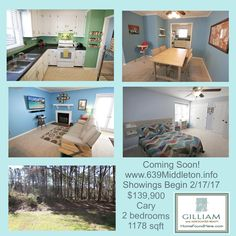 Coming Soon ~ Showings begin 2/17/17 on this Cary gem! $139,900 conveniently located near Downtown Cary. It will sell immediately, let us know if you want to schedule an appointment, asap!