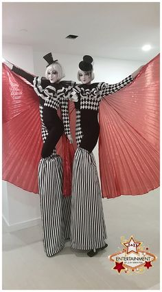 Our newest stilt characters are perfectly vintage and a fabulous option for fashion or circus themed events! www.jdentertain.com