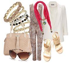 leopard jumpsuit + white tux blazer