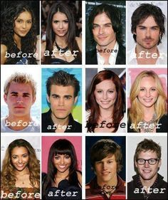 The Vampire Diaries OMG!! Some of them look so different - that's what the vampire diaries does to you
