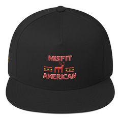 d4e5a734f93e9 Misfit American Flat Bill Cap