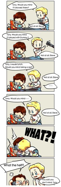 Awww STILL NOT SHIPPING STONY. THEY ARE MEANT TO BE BUDS WITH A BIT OF BROMANCE NOT LOVERS