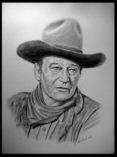 John Wayne by willow1.deviantart.com on @deviantART