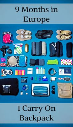 It sounds crazy, but it's totally possible!! This is the perfect packing list for women who are doing lightweight, longterm, budget travel to Europe (or anywhere)! It would also work for a RTW - round