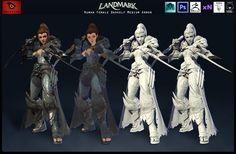 ArtStation - Human Female Darkelf Medium Armor, Satoshi Arakawa