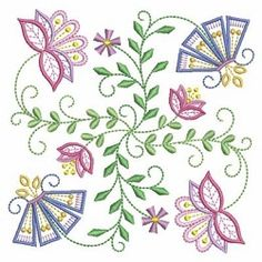 Vintage Jacobean Quilt 4, 7 - 3 Sizes!   What's New   Machine Embroidery Designs   SWAKembroidery.com Ace Points Embroidery