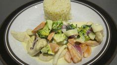 Actifry kylling og grøntsager i dijonsovs