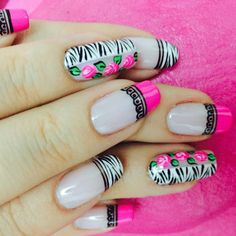 #uñas #rosas Cute Nail Art, Cute Nails, Mani Pedi, Pedicure, Purple And Pink Nails, Beautiful Nail Designs, Nail Art Designs, Acrylic Nails, Hair Beauty