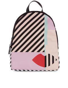 6a3a4dbe7dd33 LULU GUINNESS Multi Anna Doll Face Backpack.  luluguinness  bags  leather   nylon