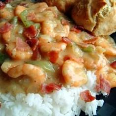 Charleston Shrimp 'n' Gravy....omg, the southern girl in me is jumping up and down with excitement right now!!! lol