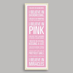 I Believe! Audrey Hepburn I Believe Print Pale Pink Background by KruBooks Fond Rose Pale, Pale Pink, Audrey Hepburn Quotes, Signo Libra, Was Ist Pinterest, Star Wars Droids, Believe In Miracles, I Believe In Pink, Everything Pink