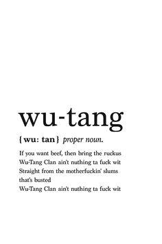 Wu-Tang Clan lyrics printable poster Wu-Tang Clan lyrics printable poster,Rapper quotes Related Corny Jokes Everyone Will Laugh at to Celebrate National Tell a Joke Day - Funny jokesOooooaaahhh cutie - Funny picturesZitat des. Hip Hop Lyrics, Rap Lyrics, New Quotes, Lyric Quotes, Wu Tang Quotes, Tough Girl Quotes, Gangsta Quotes, Quote Posters, Concert Posters