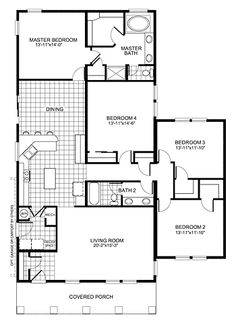 Charmant Simple 4 Bedroom Floor Plans | BR Home Floor Plan | Manufactured And/or  Modular