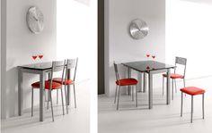 Conjunto de mesa plegable y sillas.