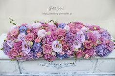 結婚式 花 紫 Floral Wedding, Wedding Flowers, Bridal Table, Pastel Flowers, Blog Entry, Wedding Decorations, Floral Wreath, Wreaths, Purple