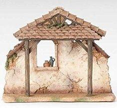 """Fontanini 5"""" Rustic Nativity Scene Stable #50468"""