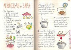 Gastro Andalusi ♥ Recetas ilustradas: Albóndigas en Salsa