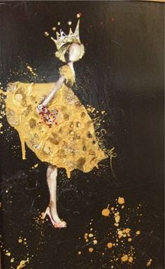 Crush Cul de Sac — Kim Schuessler via {Shain Gallery} Mellow Yellow, Color Yellow, Yellow Black, Medium Art, Belle Photo, Mixed Media Art, Altered Art, Art Photography, Illustration Art