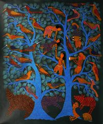 Must Art Gallery — GOND art that originated from the tribes of Central India.