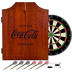 Coca-Cola Dart Cabinet with Bristol Dartboard at HSN.com.
