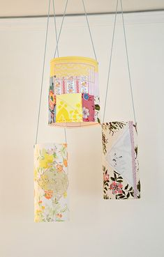 diy fabric lanterns