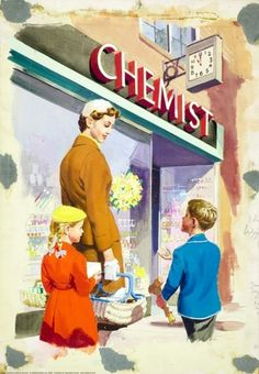 Chemist - Shopping with Mother - Ladybird Books 1958