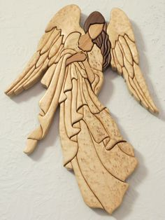 Intarsia Angel by Intarsiabycarol on Etsy