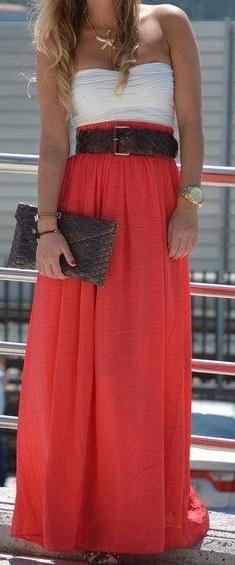 Love the skirt & belt combo!!!