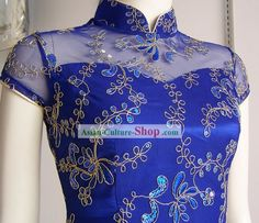 The Meaning of Cheongsam Colours – Blue | Asian Fusion Weddings
