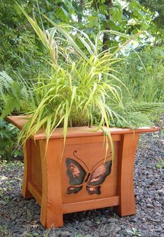 Designed & crafted by my husband - wish I had that much talent :) Japanese Style Western Red Cedar Planter