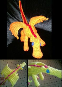 Crocheted dragon. Orange dragon was my 1st crocheted toy & the most special thing I have ever made. I made it on a whim for my nephew, thought it would be cool for his room. He's autistic & had never played with any of the stuffed animals he's been given so I never thought he would actually play with it. I was wrong! He loves it, carries it around, takes it to bed, etc. He took it from me, made eye contact & smiled when it was given to him. All new awesome actions for him.