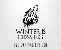 Game of thrones Winter is coming wolf head vector by PrintShapes